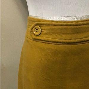 Ann Taylor mustard yellow gold pencil skirt